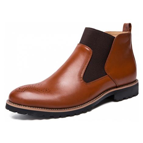 Männer Classic Brogue Chelsea Stiefel Business Casual Kleid Stiefel