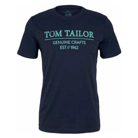 TOM TAILOR Herren T-Shirt mit Bio-Baumwolle, blau