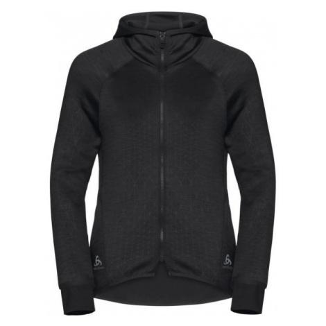 Odlo HOODY MIDLAYER FULL ZIP LOU schwarz - Damen Sweatshirt