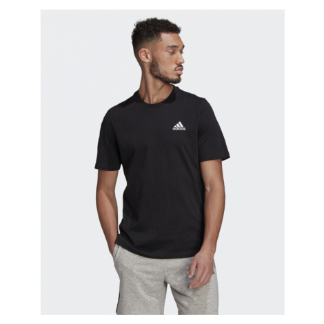 adidas Performance Essentials Embroidered Small Logo T-shirt Schwarz