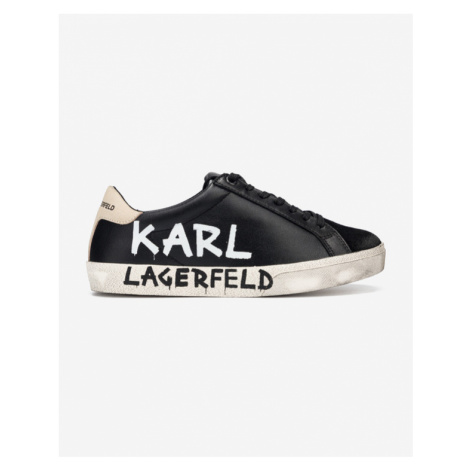 Karl Lagerfeld Skool Brush Logo Tennisschuhe Schwarz