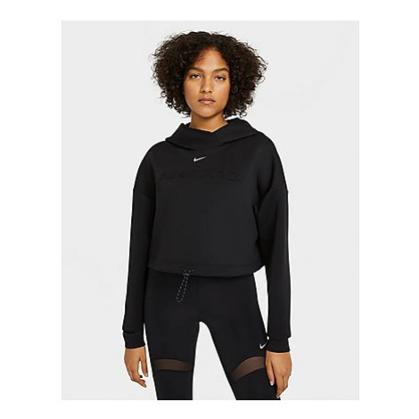 Nike Nike Pro Damen-Hoodie - Black/Metallic Silver - Damen, Black/Metallic Silver