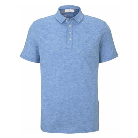 TOM TAILOR Herren Gestreiftes Poloshirt, blau