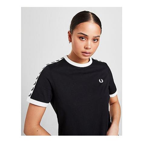 Fred Perry Tape Ringer T-Shirt Damen - Black - Damen, Black