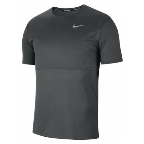 Nike BREATHE RUN TOP SS M grau - Herren Laufshirt