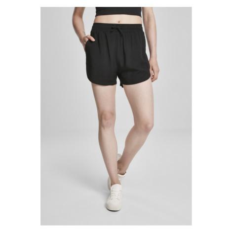 Urban Classics Ladies Viscose Resort Shorts black