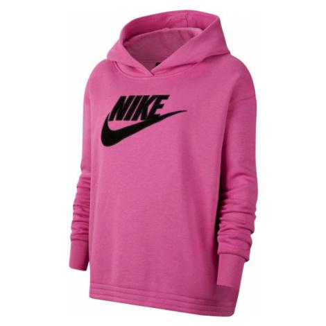 Nike NSW ICN CLSH FLC HOODIE PLUS W rosa - Damen Sweatshirt