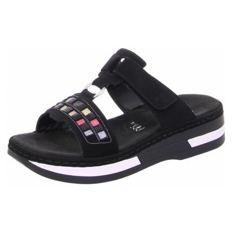 Damen Rieker Klassische Sandalen schwarz