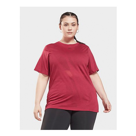 Reebok burnout t-shirt (plus-size) - Damen, Punch Berry