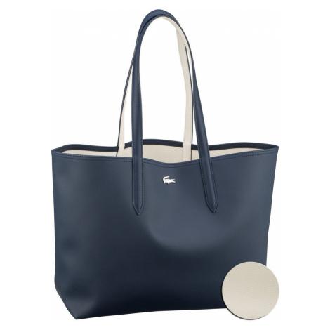 Lacoste Shopper Anna Shopping Bag 2142 Dark Sapphire/Marshmallow (innen: Weiß) (14.7 Liter)