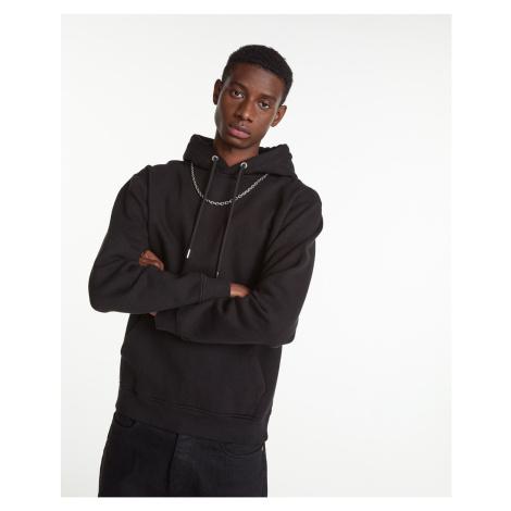 The Kooples - Kapuzensweatshirt schwarz Kettendetail - DAMEN