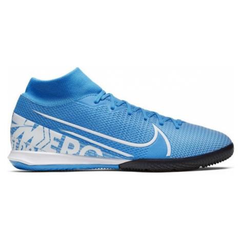 Nike MERCURIAL SUPERFLY 7 ACADEMY IC blau - Herren Hallenschuhe