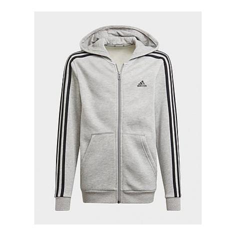 Adidas Essentials 3-Streifen Kapuzenjacke - Medium Grey Heather / Black, Medium Grey Heather / B