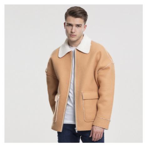 Urban Classics Bonded Oversized Sherpa Jacket camel