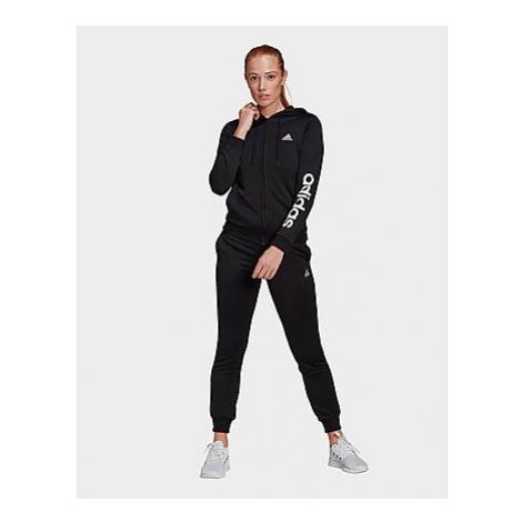 Adidas Essentials Logo French Terry Trainingsanzug - Black / White - Damen, Black / White