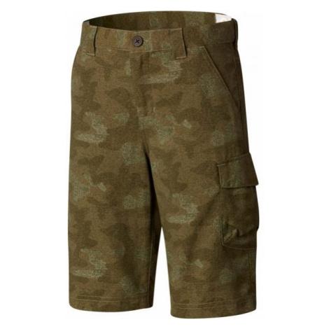 Columbia SILVER RIDGE SHORT PRINT grün - Shorts für Jungs