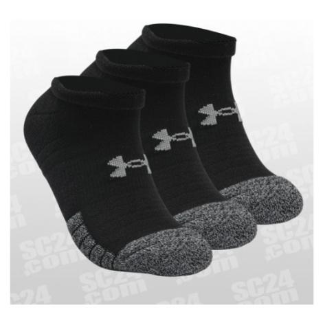 Under Armour HeatGear No Show Socks 3er-Pack schwarz/grau Größe 36-42