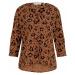 TOM TAILOR DENIM Damen Geknöpfte Bluse mit V-Ausschnitt mit LENZING(TM) ECOVERO(TM), braun