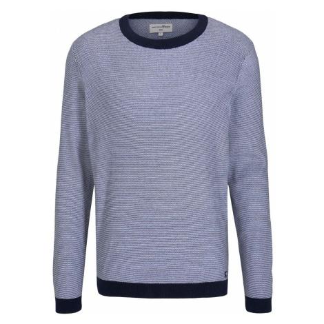TOM TAILOR DENIM Herren Strukturierter Pullover, blau