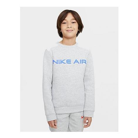 Nike Nike Air Rundhalsshirt für Kinder (Jungen) - Grey Heather/Summit White/Infrared 23 - Kinder