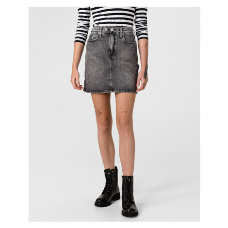 Calvin Klein High Rise Mini Skirt Grau