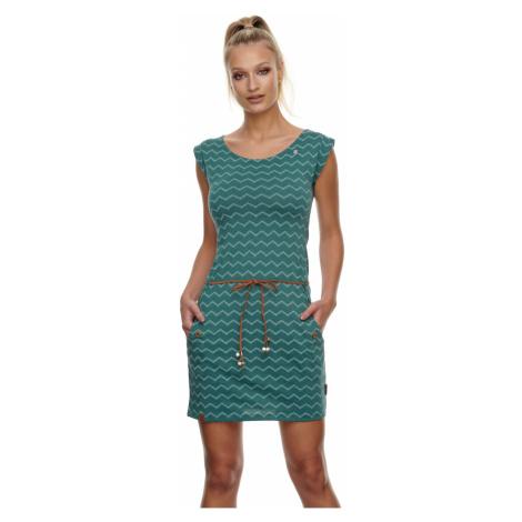 Ragwear Kleid Damen TAG CHEVRON 2111-20016 Grün 5021 Dark Green