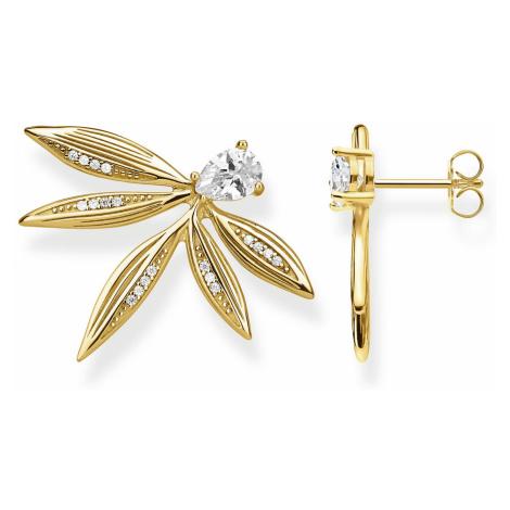 Thomas Sabo H2106-414-14 Ohrringe für Damen Blätter Silber vergoldet