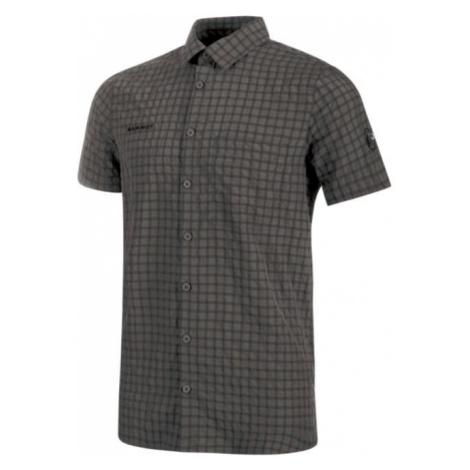 Mammut Lenni Shirt Herren Kurzarmhemd dunkelgrau