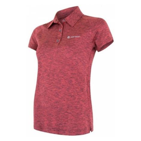 Damen T-Shirt Sensor MOTION Polo Kurzarm pink