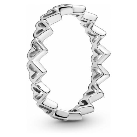 Pandora 198696C00 Damen-Ring Freehand Herzen