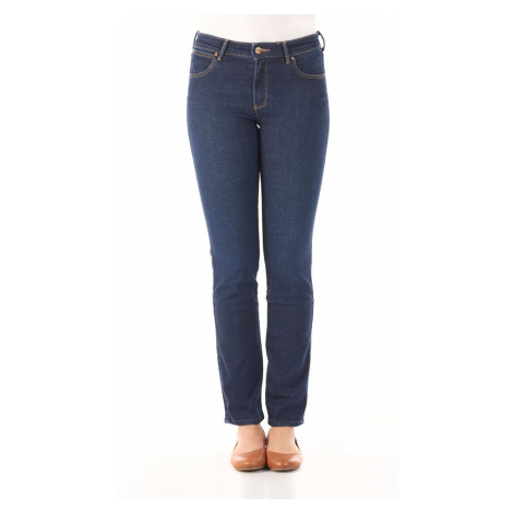 Wrangler Damen Slim Jeans Slim Fit - Blau - Night Blue