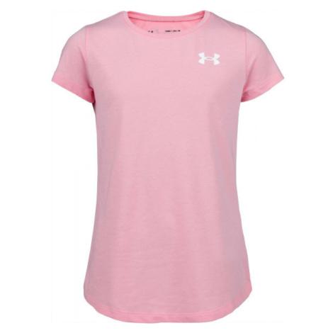 Under Armour LIVE SS CREW rosa - Mädchenshirt