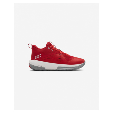 Under Armour Grade School UA SC 3ZER0 IV Basketball Kinder Tennisschuhe Rot