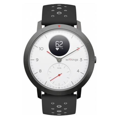 Withings Steel HR Sport, Weiß - Multisport Hybrid Smartwatch - Überwachung der Herzfrequenz, Sma