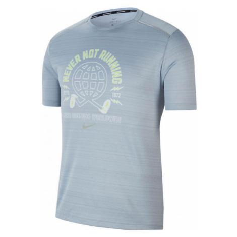 Nike MILER WILD RUN grau - Herren Laufshirt