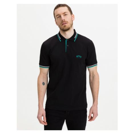 BOSS Paul Curved Polo T-Shirt Schwarz Hugo Boss