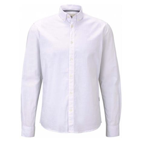 TOM TAILOR Herren Hemd mit Bio-Baumwolle , weiß