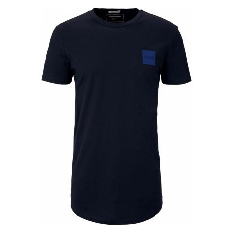 TOM TAILOR DENIM Herren T-Shirt mit Bio-Baumwolle , blau