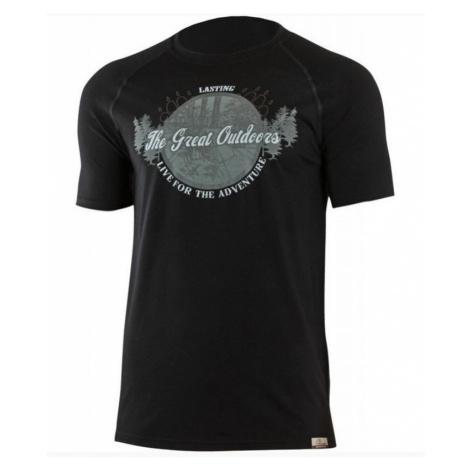Herren Wolle T-Shirt Lasting Lucas 9090 black