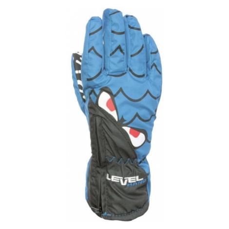 Level LUCKY blau - Skihandschuhe für Kinder