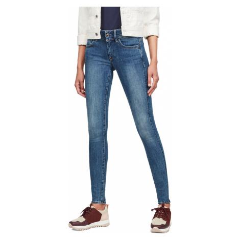 G-Star Damen Jeans Lynn Mid Waist Super Skinny Fit - Blau - Faded Blue G-Star Raw