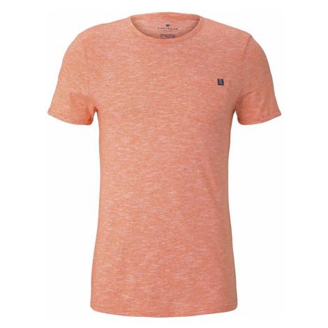 TOM TAILOR Herren Strukturiertes T-Shirt mit Brusttasche, orange