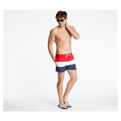 FILA Saloso Swim Shorts Black Iris/ Bright White/ True Red