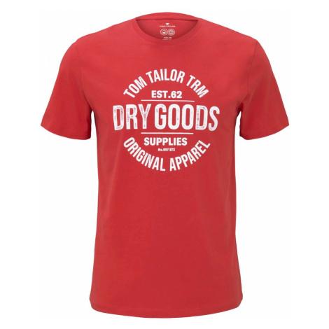TOM TAILOR Herren T-Shirt mit Bio-Baumwolle , rot