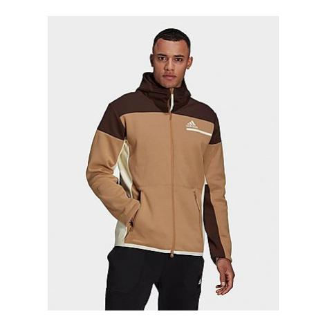 Adidas Z.N.E. Hoodie - Cardboard / Dark Brown - Herren, Cardboard / Dark Brown