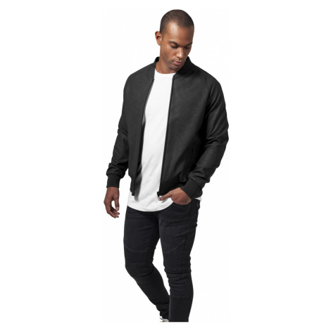 Urban Classics Herren Jacke Imitation Leather Raglan Blouson