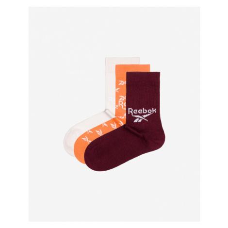 Reebok 3 Paar Socken Rot Weiß Orange
