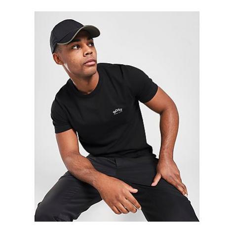 BOSS Curved Logo Short Sleeve T-Shirt Herren - Herren Hugo Boss