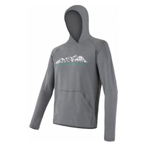 Herren Sweatshirt Sensor MERINO UPPER Berge grey 18200036