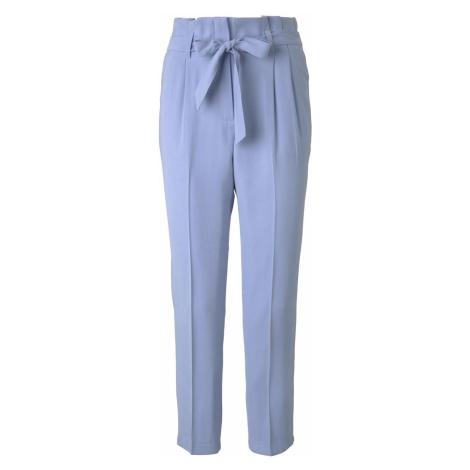 TOM TAILOR Damen Paperbag-Hose mit Bindegürtel, blau